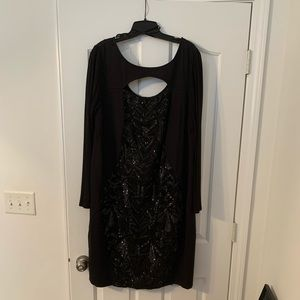 Long sleeved sequin sexy dress